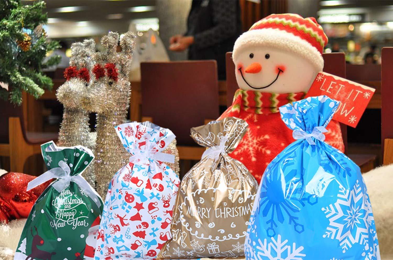 con fascette e 50 etichette 30pz Sacchetti Regalo di Natale di Grandi Dimensioni ,Sacchetti Assortiti Confezioni Regalo per Regali Natalizi Sacchetti per Feste di Natale,Sacchetti Regalo di Capodanno
