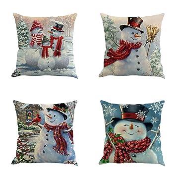 Amazon.com: XIECCX Fundas de almohada decorativas, 4 ...