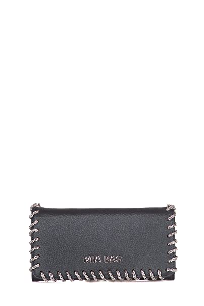 1961d36c6a Mia Bag - Portafoglio donna Nero 18306 Portafogli: Amazon.it: Abbigliamento