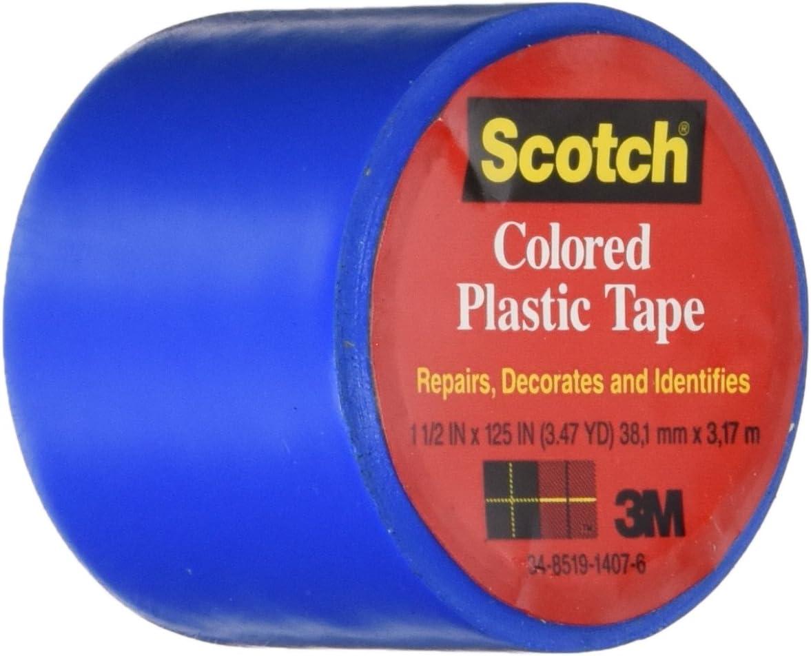 "Scotch YELLOW Colored Plastic Tape 1-1//2"" X 125"" model 191YLW"