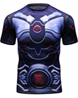 Red Plume Men's Compression Sports Fitness Shirt, Armor America Teamleader T-Shirt
