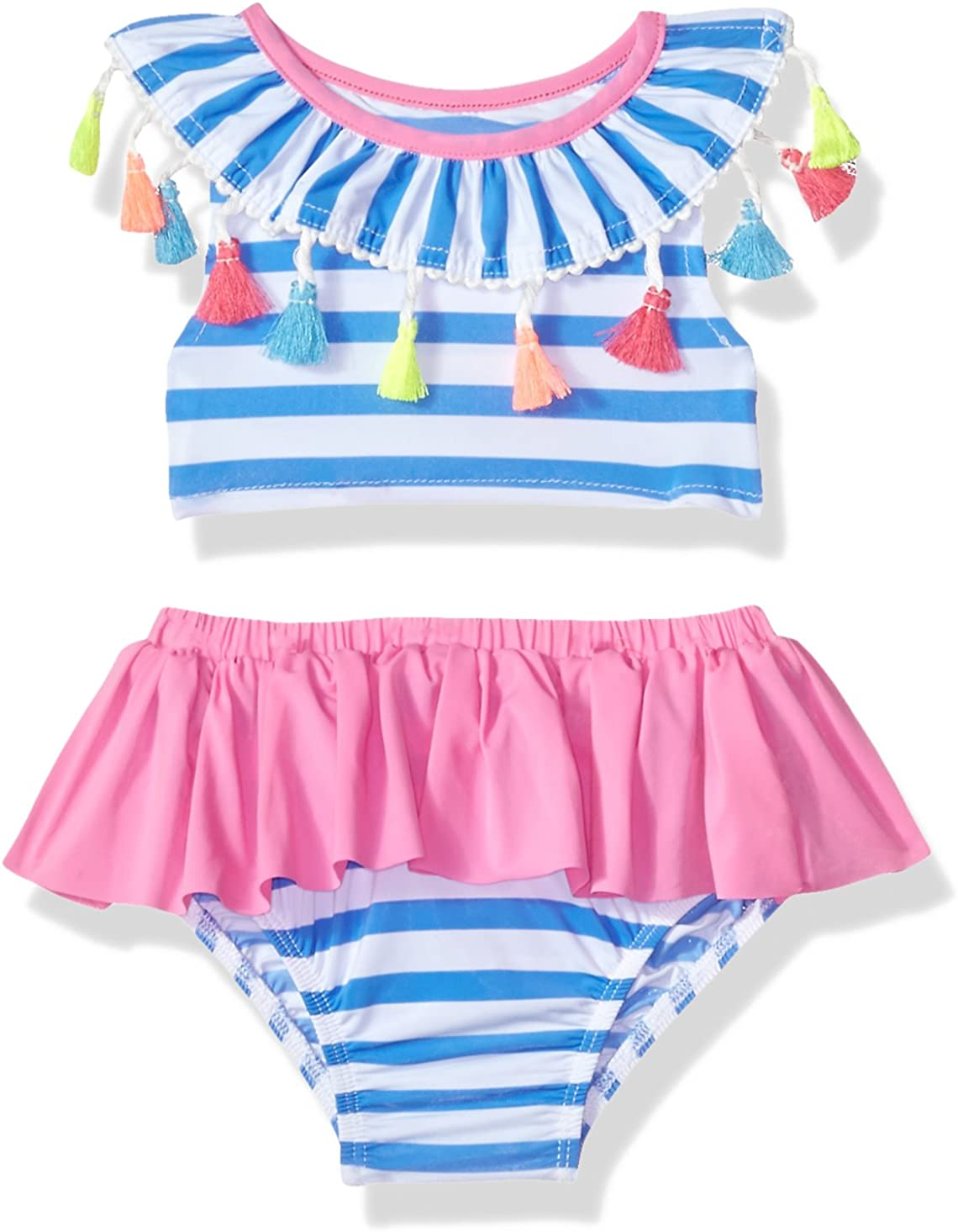 Amazon.com: mud pie bebé niñas borla rayas traje de baño de ...