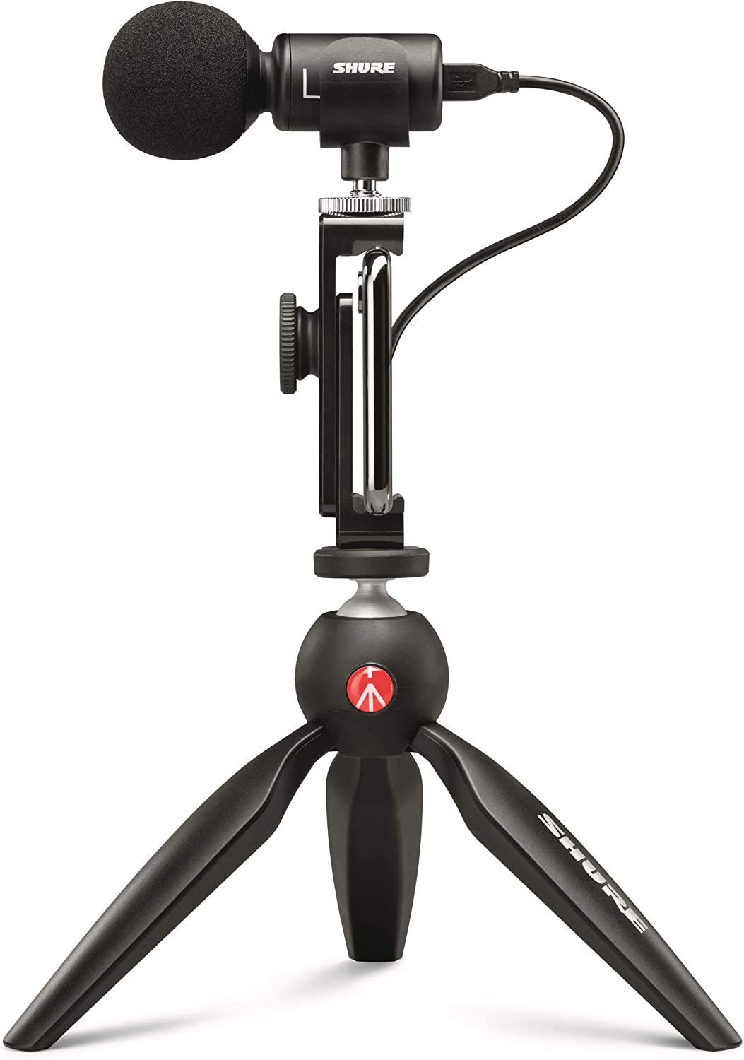 Shure MOTIV MV88+ Video Kit with Digital Stereo Condenser Microphone for Apple and Android, Black, DIG-VIDKIT