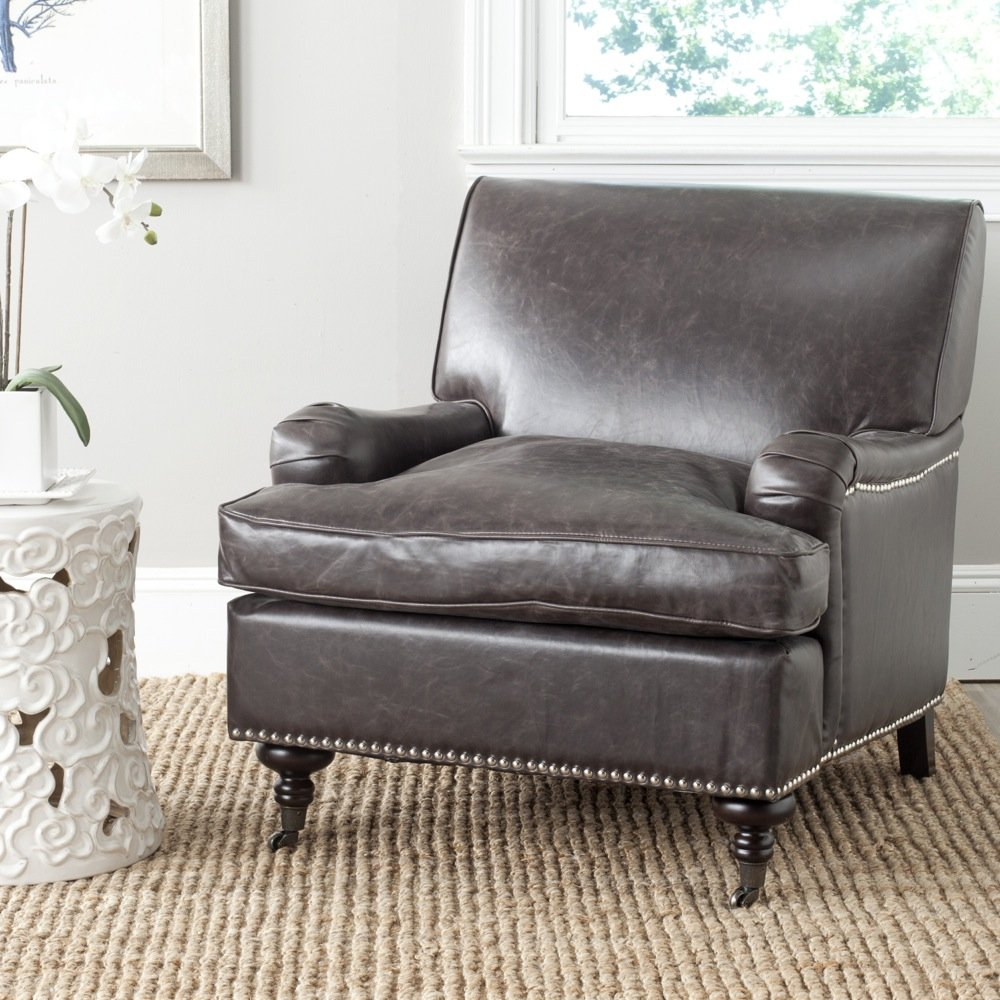 Amazon.com: Safavieh Mercer Collection Chloe Club Chair, Antique Brown:  Kitchen U0026 Dining