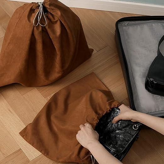 BlesMaller Funda Protectora Antipolvo de Tela de Seda para Bolso Bolso Monedero Cuero Conjunto de Zapatos 2 Juegos,Negro 50X40cm con Bolsa con cord/ón