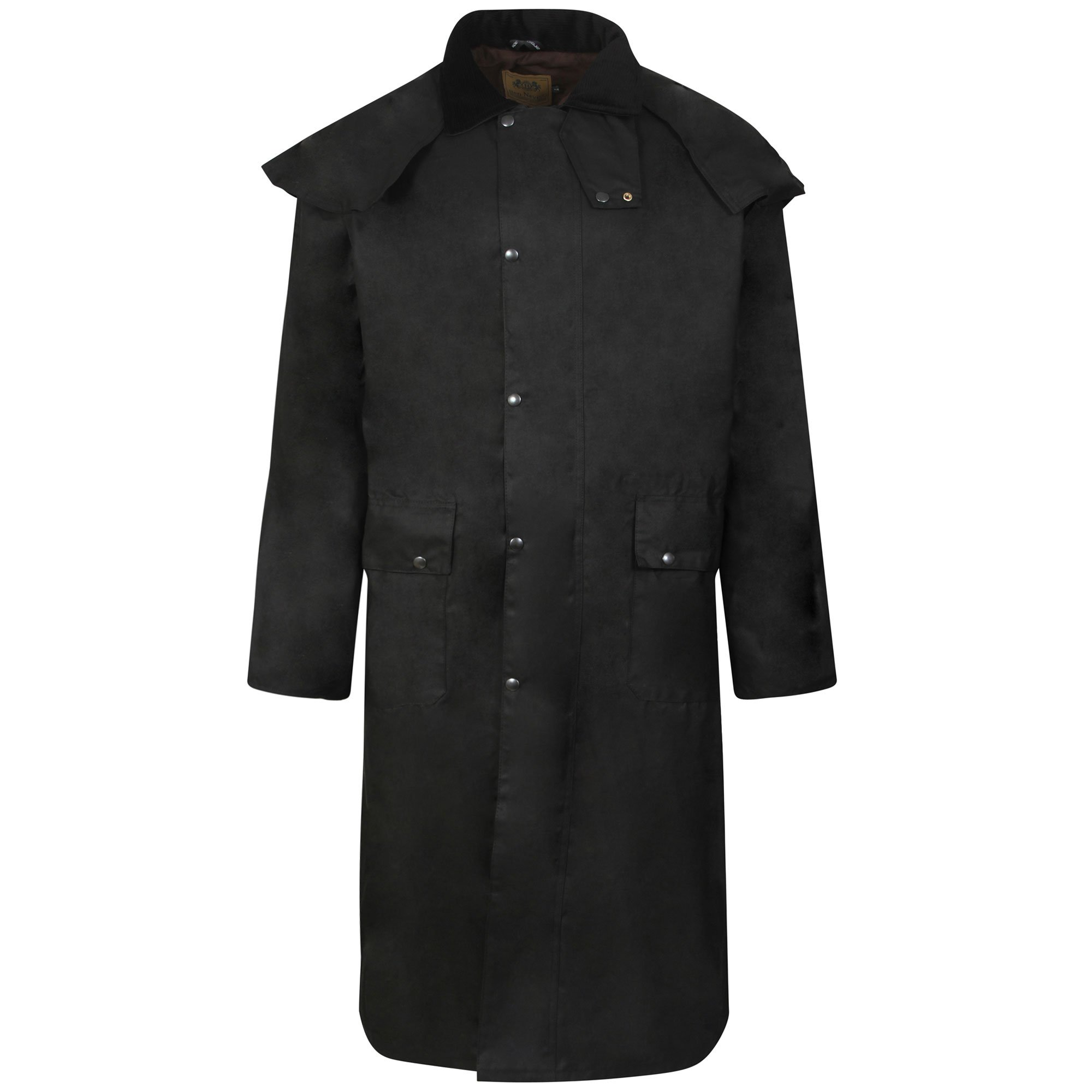 3283e3c4bc Fenside Country Clothing Long Wax Waxed Stockmans Riding Coat Jacket Unisex  Double Fold Way Waterproof product