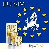 Europäische Union 9GB + 3000 Min Telefonie Prepaid SIM Karte (EU Länder + Schweiz) für 30 Tage