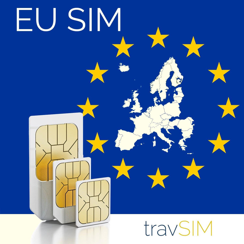 Scheda SIM prepagata, da 9 GB e 3000 min, valida nell'Unione europea e in Svizzera per 30giorni travSIM 4059423012332