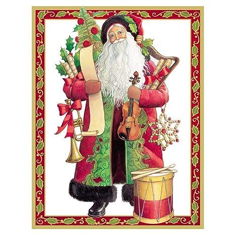 Caspari Christmas Cards.Amazon Com Caspari Christmas Melodies Large Boxed