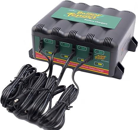 Battery Tender 022-0148-DL-EU Ladeger/ät Autobatterie 12V 4 Bank 1.25A Motorrad Batterieladeger/ät