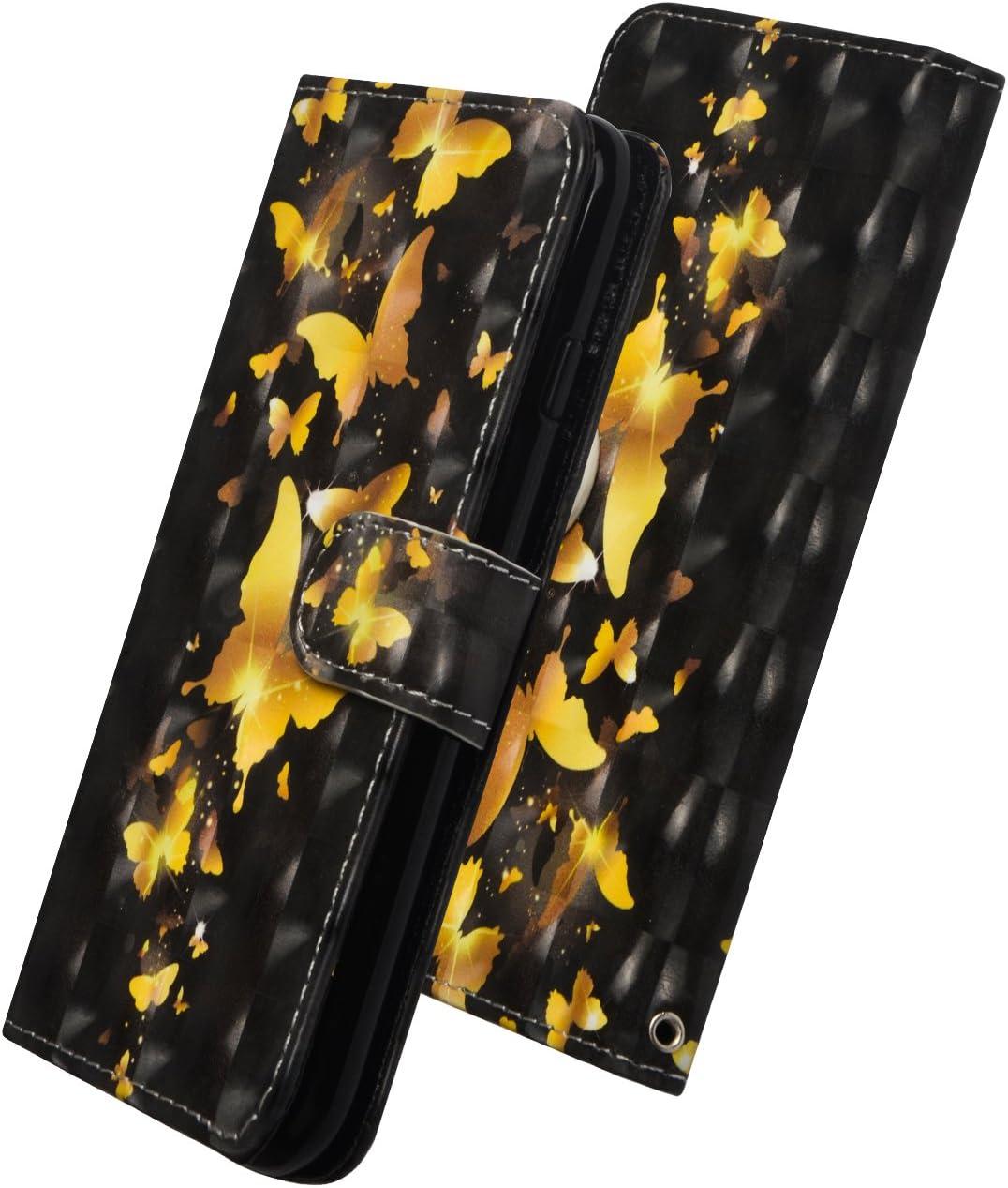 MRSTER Funda para LG K40s 3D Brillos Carcasa Libro Flip Case Antigolpes Cartera PU Cuero Funda con Soporte para LG K40s YX 3D Peacock Flower