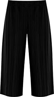 Women Pull On Soft Jersey Baggy Culottes Wide Leg Standard /& Plus Sizes 12-26