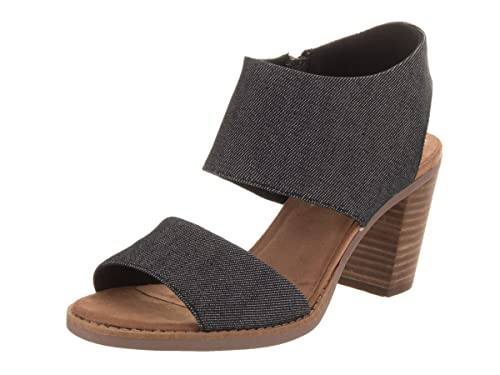 a66cc1c48ff4a Toms Women's Deia Booties Black Suede Perforated with Farren 10010982