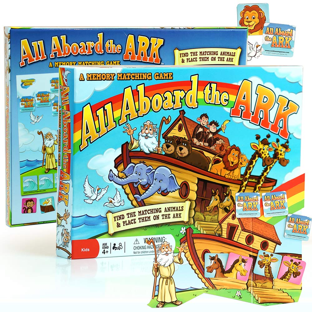 Continuum Games All Aboard the Ark Board Game Kids Age 4 and Up