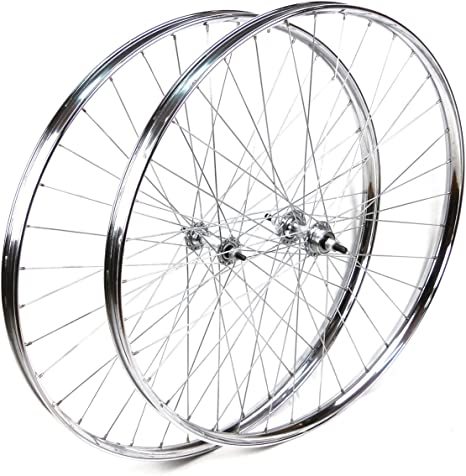 Ruedas Delantera y Trasera Westwood 28 x 1 ½ de Acero Cromado para Bicicleta clásica: Amazon.es: Deportes y aire libre