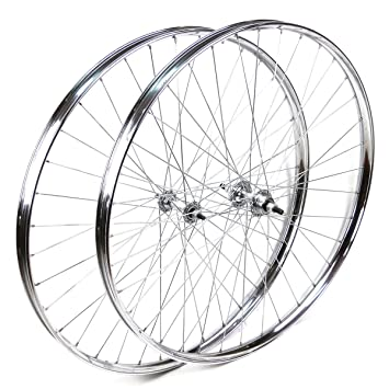 """Ruedas delantera y trasera Westwood 26 x 1 ½"""" de acero cromado para bicicleta clásica"""