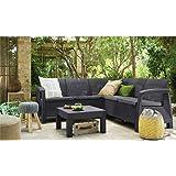 Keter Corfu Outdoor 4 Seater Rattan Sofa Furniture Set