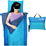 Campla Sleeping Bag 3-4 Season Waterproof Portable Lightweight Backpacking Envelope Sleeping Bags for Kids Adults Camping Traveling Hiking Outdoor Activities