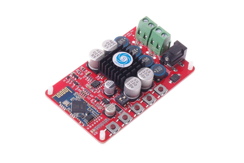 Smakn Wireless Digital Bluetooth 40 Audio Receiver Tda7492 Power Amplifier Circuit Board Blue Silver Tda7492p 50w Electronics