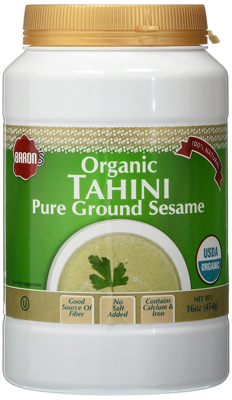 Baron's USDA Organic Tahini - Pure Ground Sesame Kosher 16-ounce Jars (Pack of 2) by Baron's (Image #2)