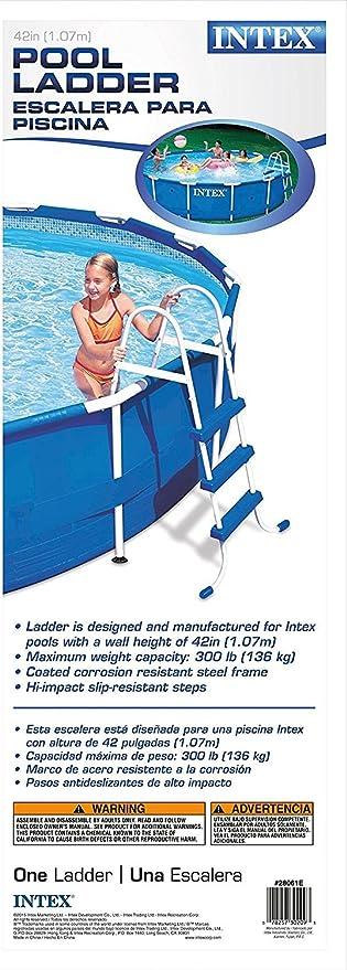 Escalera para piscina 1,07 m Intex: Amazon.es: Jardín