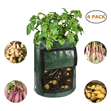 Amazon.com: ELECTRFIRE 4 paquetes de 10 bolsas de cultivo de ...