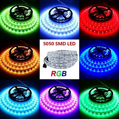 1M 5050 RGB LED strip 3-key controller 9v battery connector - glowhut.com: Musical Instruments