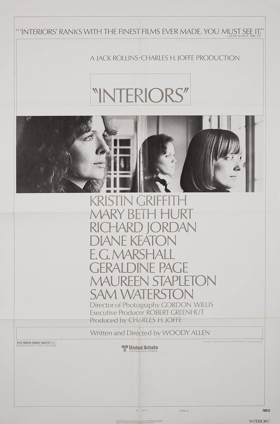 Interiors 1978 U.S. One Sheet Poster at Amazon's Entertainment Collectibles  Store