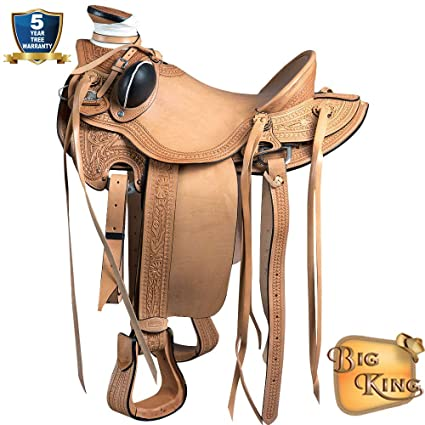 Amazoncom 15 Western Horse Saddle Leather Wade Ranch Roping Tan
