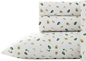 Poppy & Fritz | Percale Collection | Bed Sheet Set - 100% Cotton, Crisp & Cool, Lightweight & Moisture-Wicking Bedding, Twin, Avocados