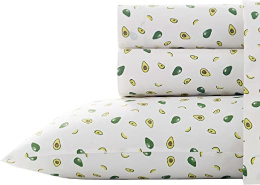 Poppy /& Fritz Pineapples 4-Pc Sheet Set T200 Percale Cotton Soft