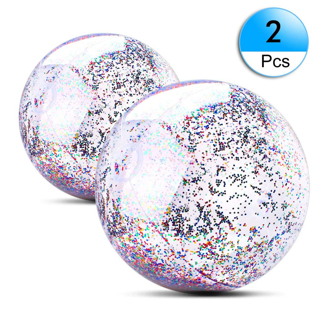U_star 2 Pack Beach Ball 16 inch 24 inch Beach Balls Inflatable Water Ball for Parties Holidays Pool Water Toys by U_star