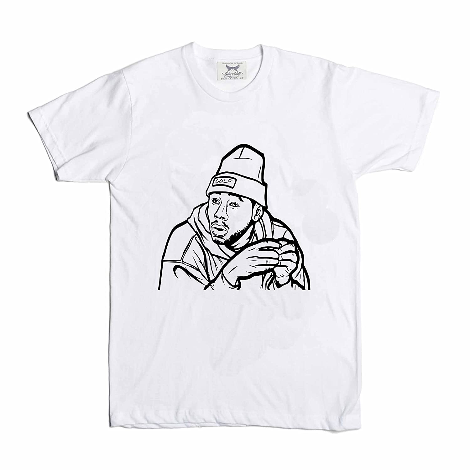 b3cdd6eb3b8a75 outlet Tyler The Creator Golf White Tee (Unisex) at Amazon Men  s ...