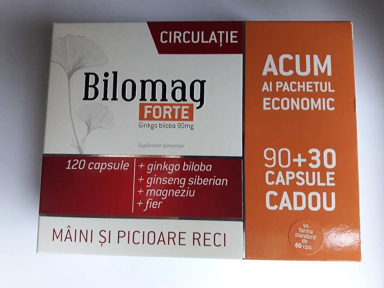 Außergewöhnlich Amazon.com: Bilomag Forte Circulation, 120 capsules, Enriched (90 &XB_07