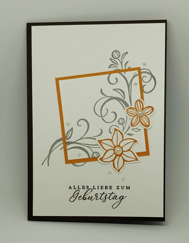 Stampin up Geburtstagskarte Blumen