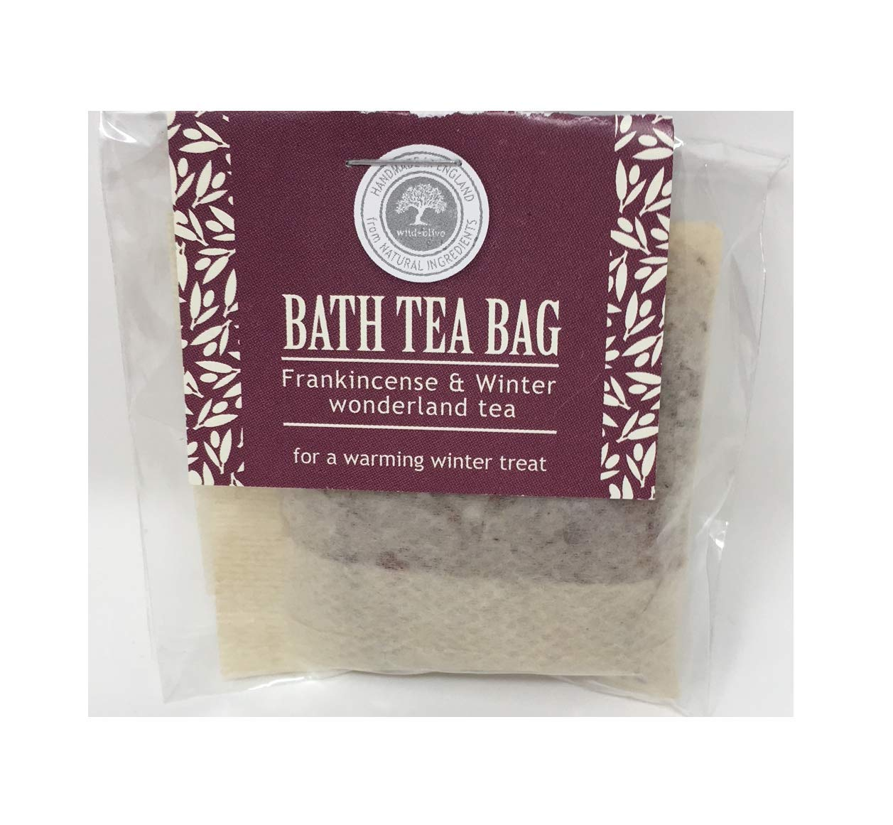 Frankincense and Winter Wonderland Tea Festive Bath Tea Bag Wild Olive