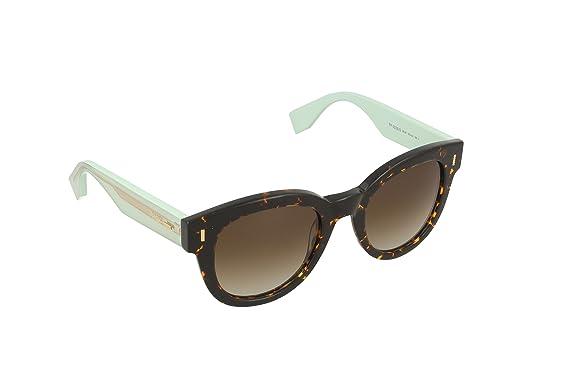 Fendi Damen Sonnenbrille FF 0026/S IF HK4, Grün (Hvnspttd Grn/Brown Ds Azure), 50