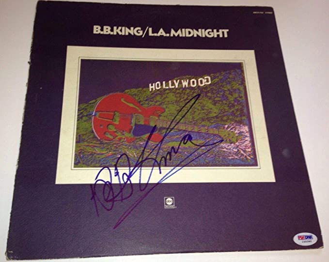 Amazon.com: b.b. bb king signed album l.a. midnight lp ...