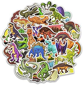 Cool Sticker 50 Pack Office Sticker Funny Stickers Cute,Waterproof,Aesthetic,Trendy Stickers for Laptops, Computers, Hydro Flasks Skateboard Luggage Decal Graffiti Patches (Dinosaur Design)