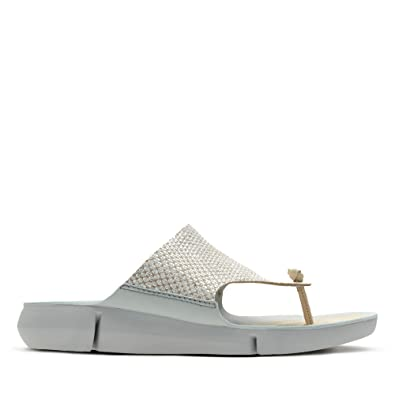 ba305a3a5044 Clarks Tri Carmen Leather Sandals in Metallic Standard Fit Size 6 Grey   Amazon.co.uk  Shoes   Bags