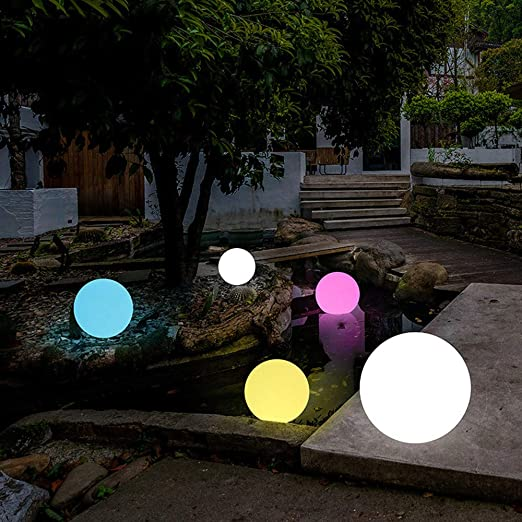 Luces LED solares flotantes que cambian de color al aire libre, resistentes al agua, lámpara solar para jardín, poste de luz, lámpara de bola para fiestas de piscina con mando a distancia: