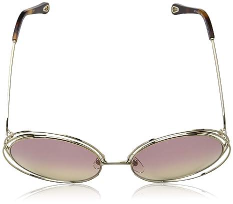 1d4392a85f42 Amazon.com  Chloe CE114SD 702 Gold Grad Rose Carlina Round Sunglasses Lens  Category 1 Siz  Chloe  Clothing