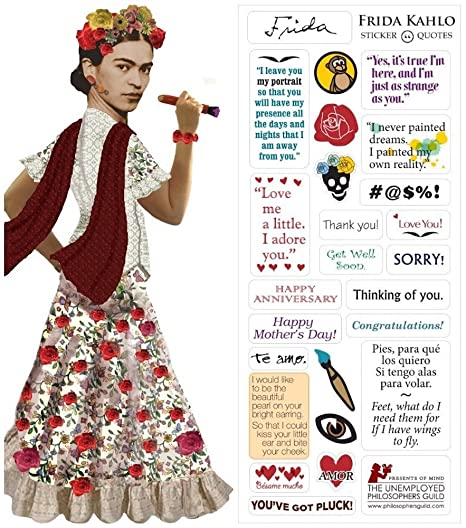Frida Kahlo Quotable Notable Greeting Card With Sticker Quotes