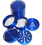 "SMART CRUSHER PREMIUM Quality LARGE Five Piece 5PCS 2.5"" (63mm) 2 1/2 "" Aluminum Magnetic Herb Pollen Herb Grinder"