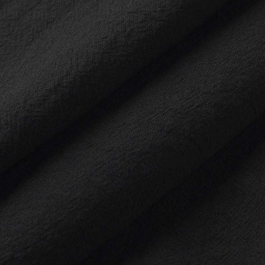 Battnot Herren Jumpsuit Kurze Baumwolle Leinen Kurzarm Solide Sommer Lose Overalls T-Shirts Tops Hosen M/änner Vintage Casual Baggy Trainingsanzug Bluse Hemd Pullover Pulli Mens Fashion Shirt S-XL
