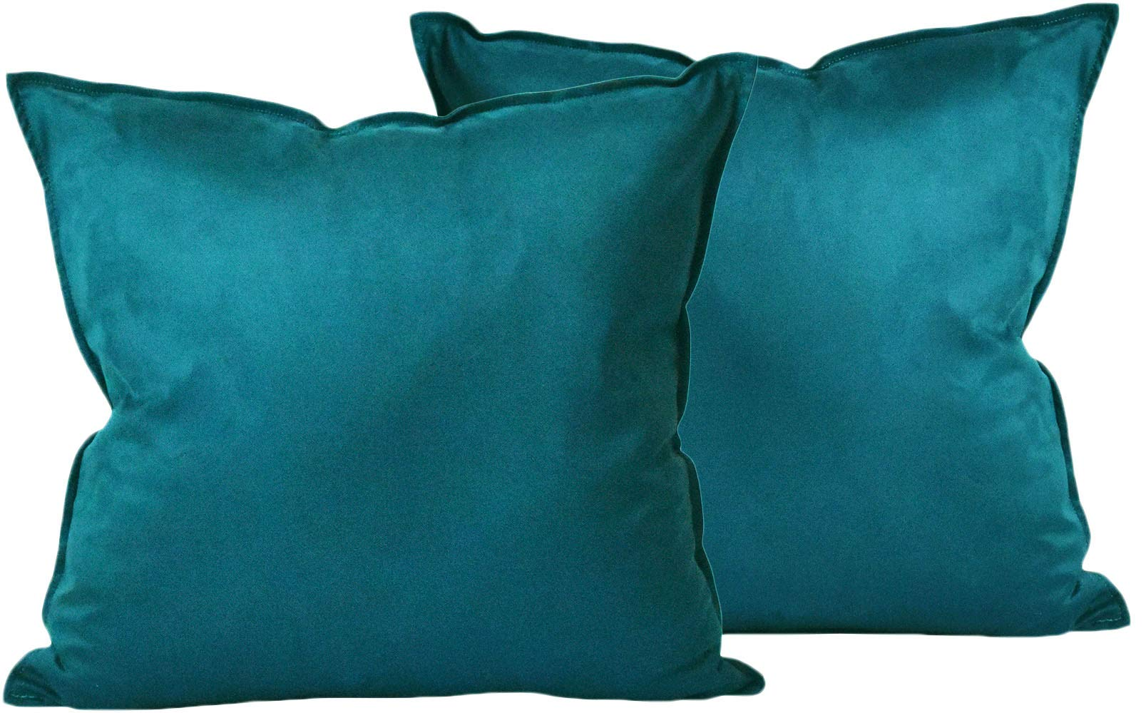 ZEALAX Set of 2 Decorative Throw Pillow Covers Comfortable Cushion Covers Pillowcases for Sofa Couch Home Decor, 18 x 18 inches, Dark Teal