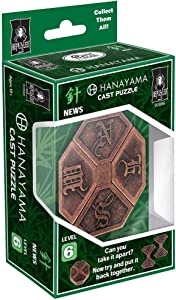 BePuzzled News Hanayama Cast Metal Brain Teaser Puzzle (Level 6) Puzzles For Kids & Adults Ages 12 & Up