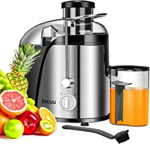 Jocuu Centrifugal Juicer Machine, Juice Extractor with Wide Feed Chute, Easy to Clean, 600W Power 2-Speed, 304 Stainless Steel, BPA-Free Dishwasher Safe
