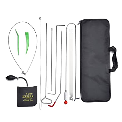 AMOSTBY Full Professional Car Kit, Auto Emergency Toolset 11PCS, Air Wedge Pump, Non-marring Wedges, Carrying Case Bag: Automotive