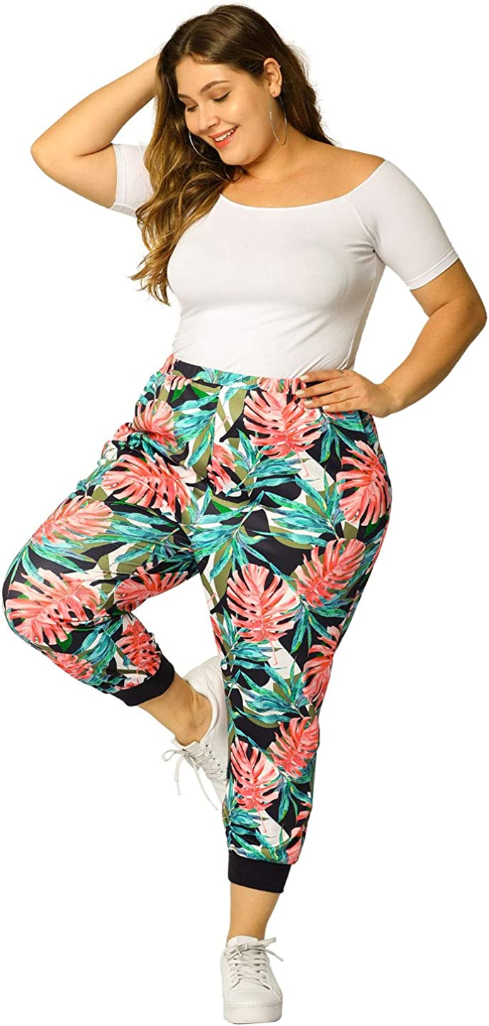 Agnes Orinda All items in the store Women's Plus Size Max 87% OFF Elastic Pockets Sweatpants Waist